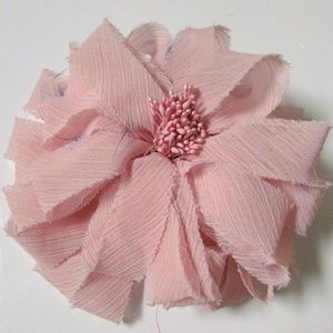 Chico's Fabric Ribbon Flower Magnetic Brooch